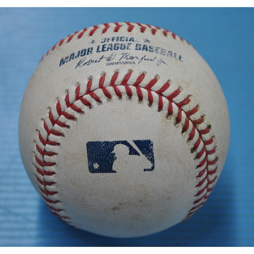 Photo of Game-Used Baseball - 9/2/2020 - CHI @ PIT - Pitcher - Kyle Hendricks (CHI), Batter - Anthony Alford, Bot 4, Single