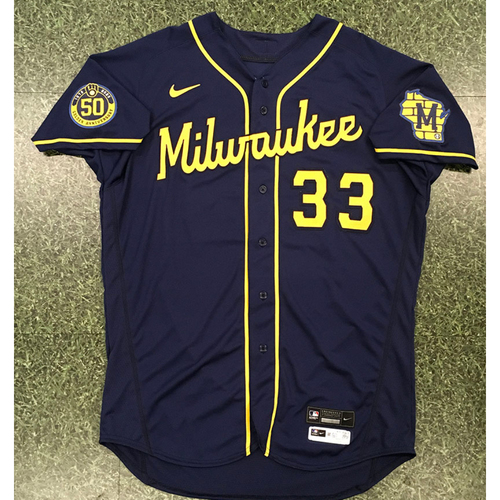Photo of Steve Karsay 2020 Team-Issued Road Navy Jersey