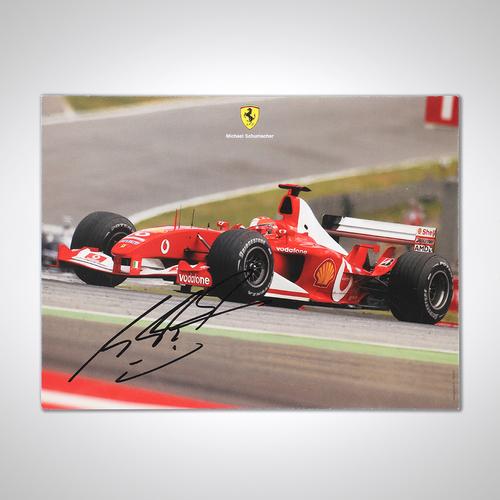 Photo of Michael Schumacher 2003 Framed Signed Ferrari Photograph