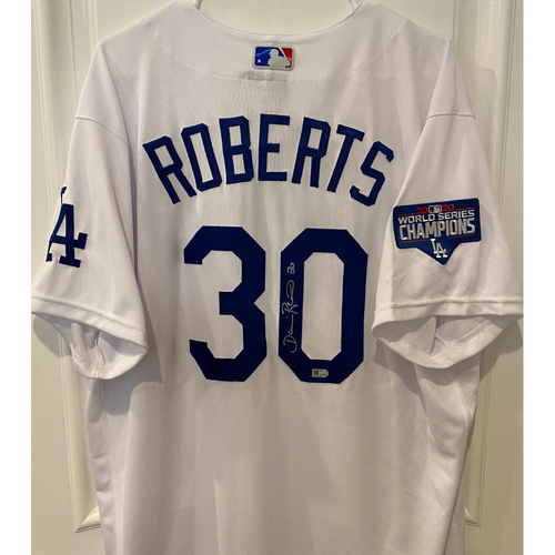 Photo of Dave Roberts Autographed Authentic Los Angeles Dodgers Jersey