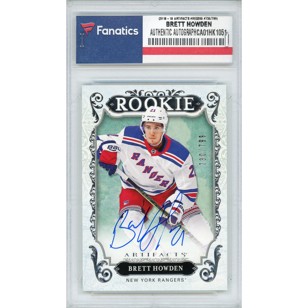 Brett Howden New York Rangers Autographed 2018-19 Upper Deck Artifacts Rookie Redemption #RED200 Card - LE#730 of 799