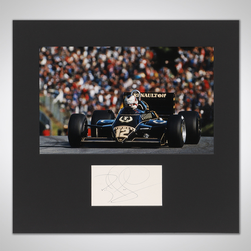 Photo of Nigel Mansell 1983 Photograph With Mounted Autograph