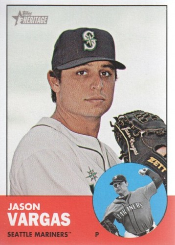 Photo of 2012 Topps Heritage #383 Jason Vargas