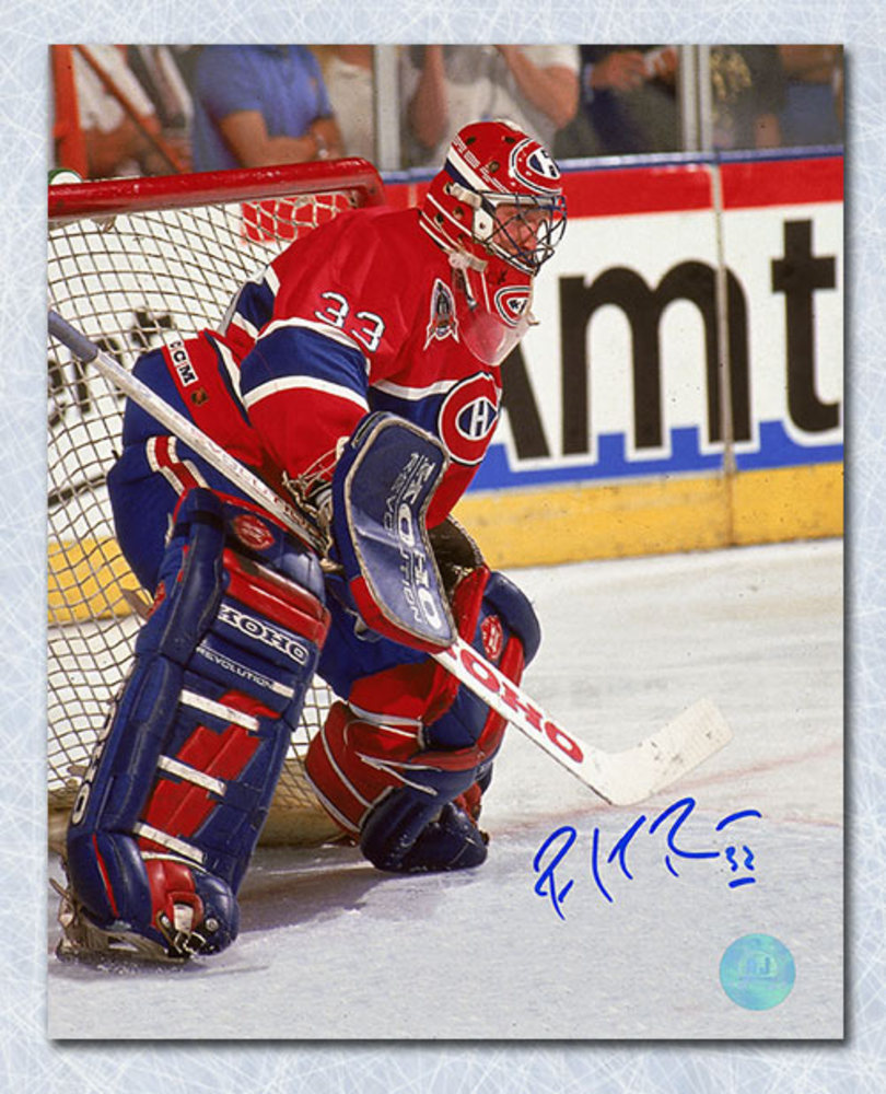 Patrick Roy Montreal Canadiens Autographed Stanley Cup Finals Action 8x10 Photo