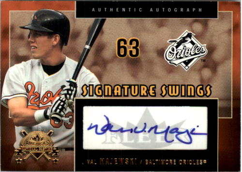 Photo of 2005 National Pastime Signature Swings Gold #VAL Val Majewski/199