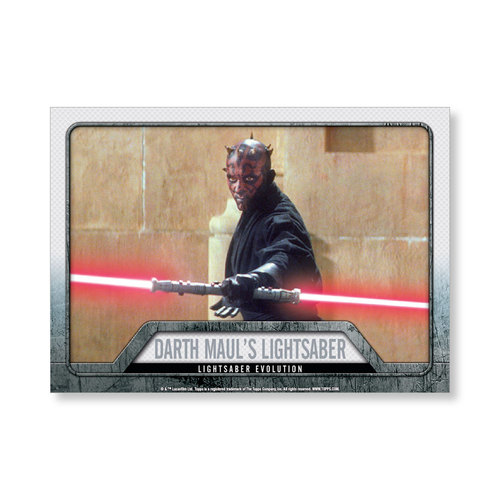 2016 Star Wars Evolution Darth Maul's Lightsaber EVOLUTION OF LIGHTSABER Poster - # to 99