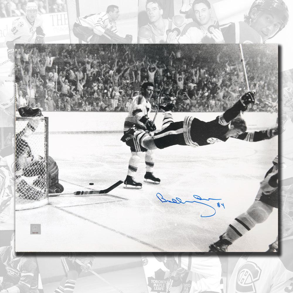 Bobby Orr Boston Bruins The Goal Autographed 11x14 GNR