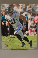 JAGUARS - PAUL POSLUSZNY SIGNED 16X20 CANVAS PRINT