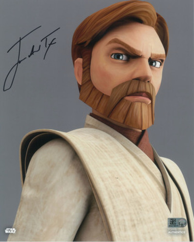 James Arnold Taylor as Obi-Wan Kenobi 8x10 Autographed in Black Ink Photo