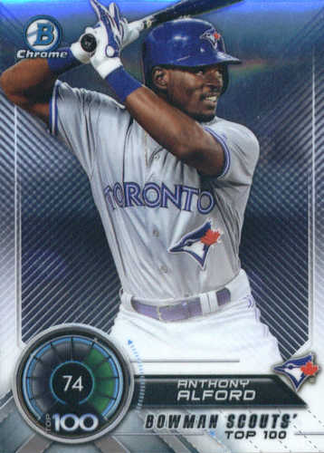 Photo of 2018 Bowman Chrome Scouts Top 100 #BTP74 Anthony Alford