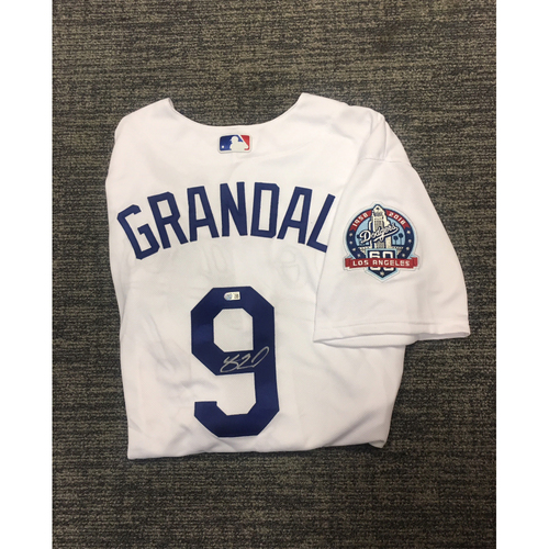 Photo of LADF Blue Diamond Gala Auction: Yasmani Grandal Authentic Autographed Jersey (Size 48)