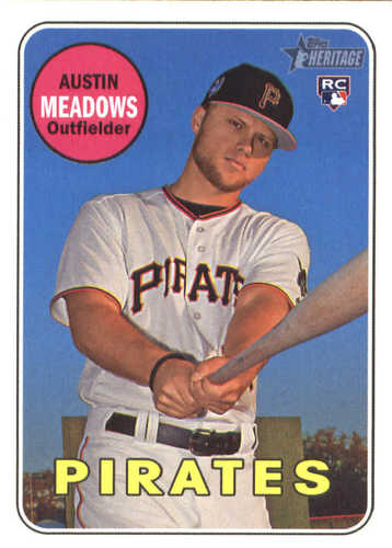 Photo of 2018 Topps Heritage #568 Austin Meadows RC