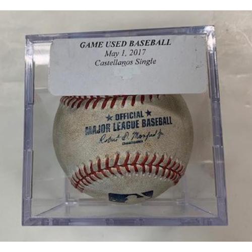 Photo of Game-Used Baseball: Nicholas Castellanos Single