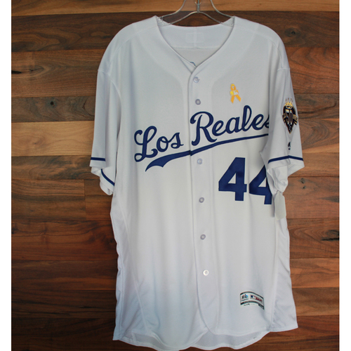 Photo of Game-Used Los Reales Jersey: Terry Bradshaw (Size 48 - BAL @ KC - 9/1/18)