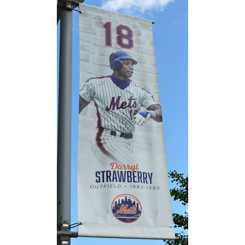 Photo of Darryl Strawberry #18 - Citi Field Banner - 2018 Season