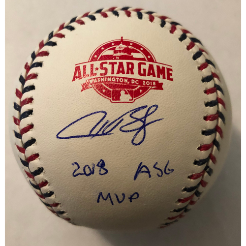 "Photo of Alex Bregman Autographed ""2018 ASG MVP"" 2018 All-Star Game Logo Baseball"
