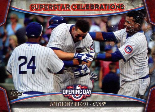 Photo of 2015 Topps Opening Day Superstar Celebrations #SC15 Anthony Rizzo