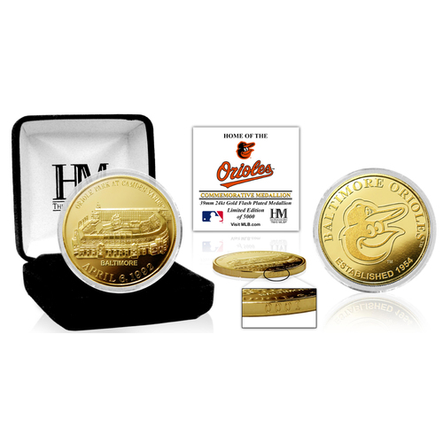 "Photo of Baltimore Orioles ""Stadium"" Gold Mint Coin"