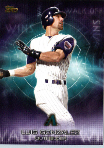 Photo of 2016 Topps Walk Off Wins #WOW1 Luis Gonzalez