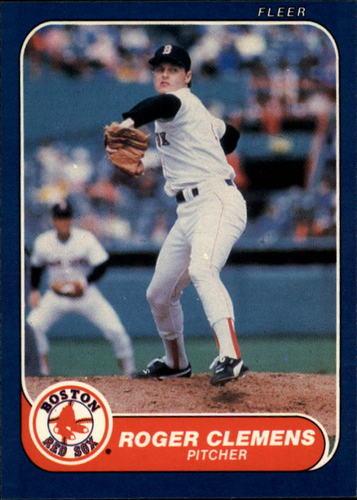 Photo of 1986 Fleer #345 Roger Clemens
