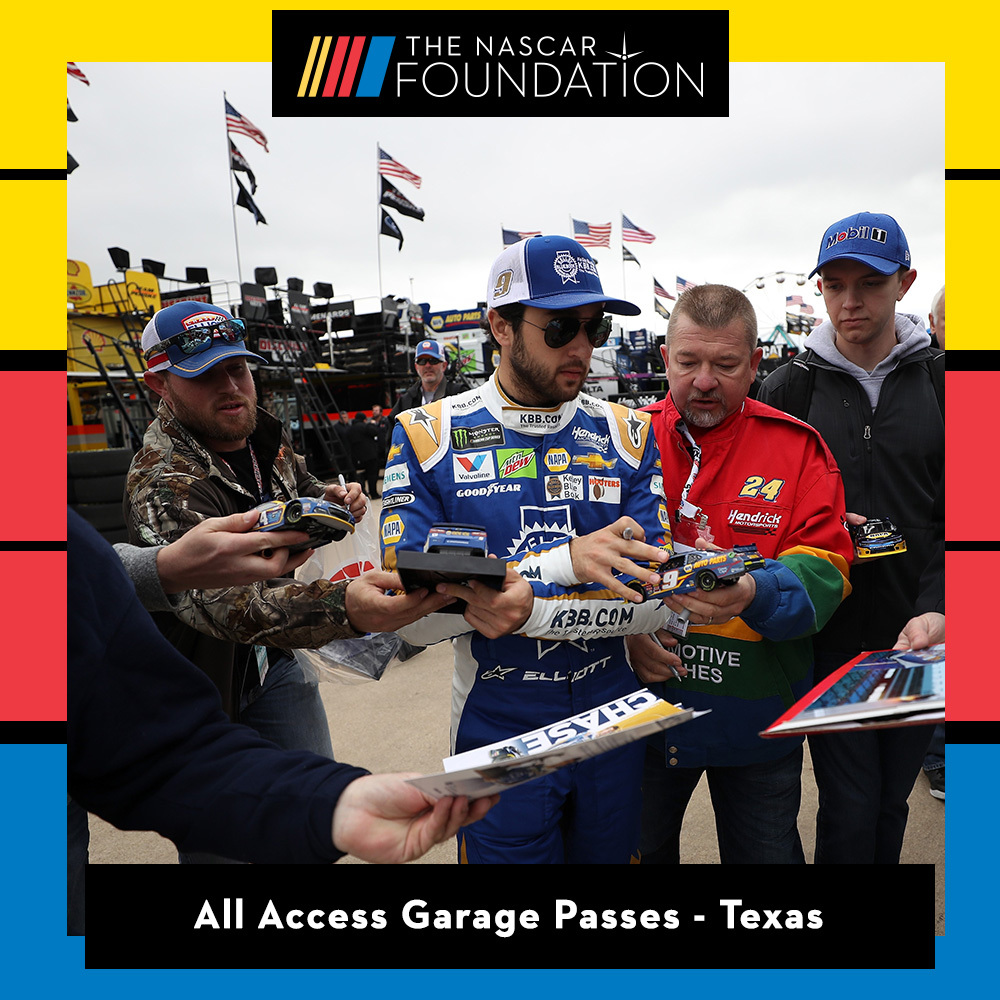 Two All Access NASCAR Garage Passes at Texas Motor Speedway!