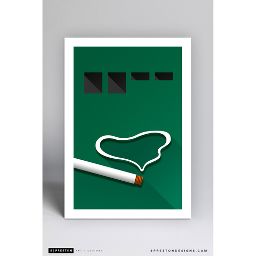 Photo of Polo Grounds - Minimalist Ballpark Art Print by S. Preston  - New York Giants