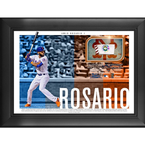 Photo of Amed Rosario Game-Used Baseball Plaque