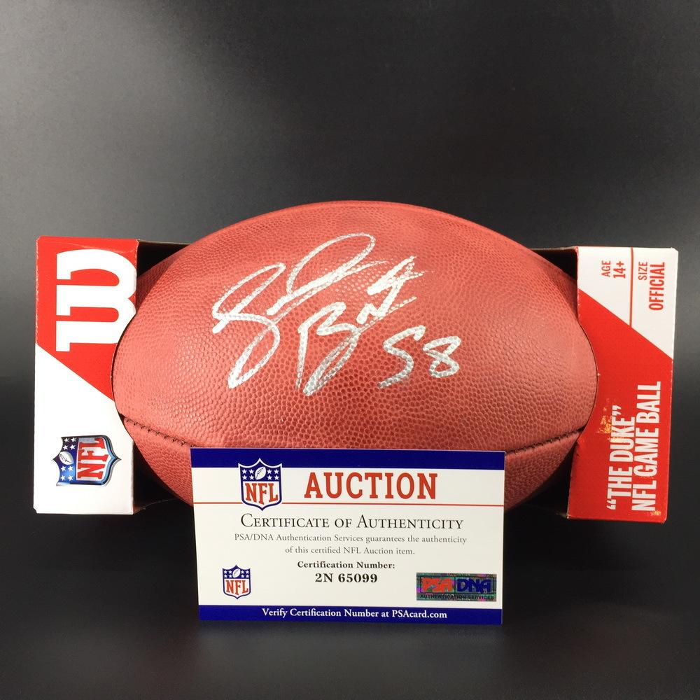 NFL - Buccaneers Shaquil Barrett Signed Authentic Football W/ 100 Seasons Logo