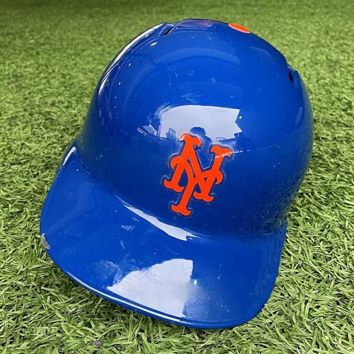 Photo of Zack Wheeler #45 - Game Used Batting Helmet - Wheeler Goes 1-3, RBI - Mets vs. Marlins - 9/26/19