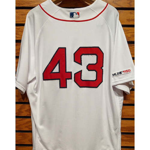 Photo of Jhoulys Chacin #43 Team Issued Home White Jersey