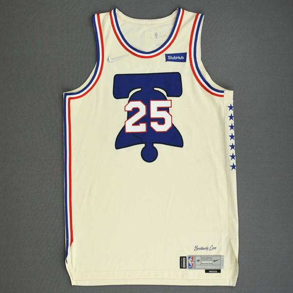 Image of Ben Simmons - Philadelphia 76ers - Game-Worn Earned Edition Jersey - 2020-21 NBA Season