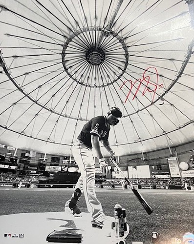 Photo of Mike Trout Autographed 16x20 - B/W