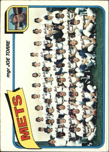 Photo of 1980 Topps #259 New York Mets CL/Joe Torre MG