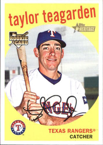 Photo of 2008 Topps Heritage #672 Taylor Teagarden RC