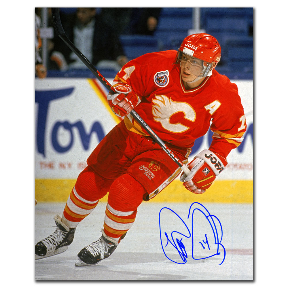 Theo Fleury Calgary Flames Stanley Cup Finals Autographed 8x10