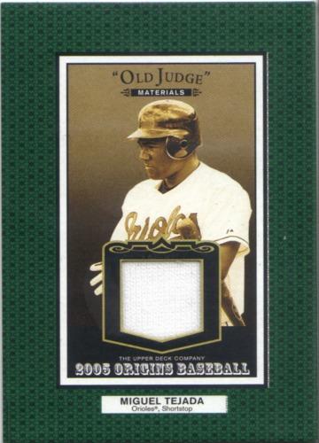 Photo of 2005 Origins Old Judge Materials Jersey #TE Miguel Tejada