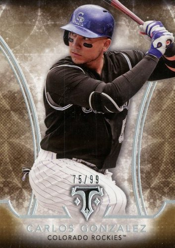 Photo of 2015 Topps Triple Threads Gold #36 Carlos Gonzalez