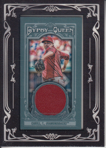 Photo of 2013 Topps Gypsy Queen Framed Mini Relics #TC Trevor Cahill