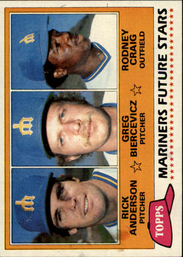 Photo of 1981 Topps #282 Rick Anderson RC/Greg Biercevicz/Rodney Craig