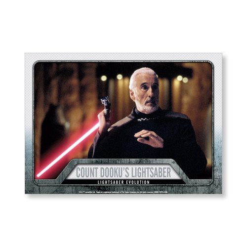 2016 Star Wars Evolution Count Dooku's Lightsaber EVOLUTION OF LIGHTSABER Poster - # to 99