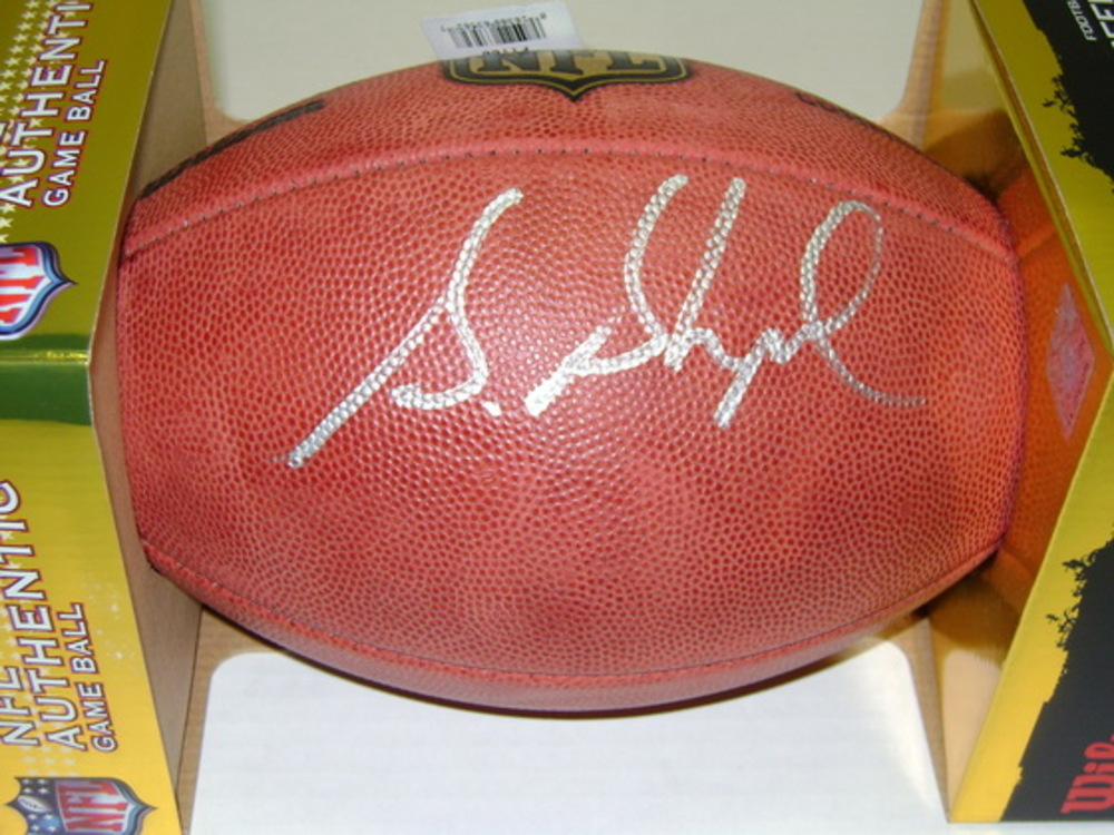 NFL - GIANTS STERLING SHEPARD SIGNED AUTHENTIC FOOTBALL