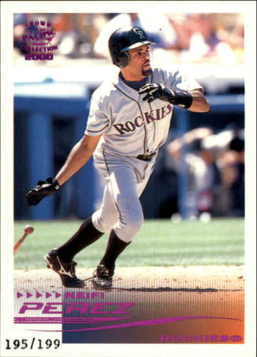 Photo of 2000 Pacific Crown Collection Holographic Purple #92 Neifi Perez