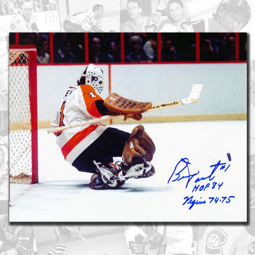 Bernie Parent Philadelphia Flyers Vezina 74-75 Signed 8x10