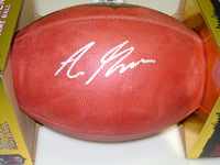 NFL - RAMS AARON GREEN SIGNED AUTHENTIC FOOTBALL