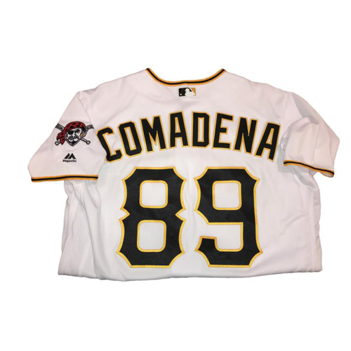 Photo of Jordan Comadena Game-Used Home White Jersey