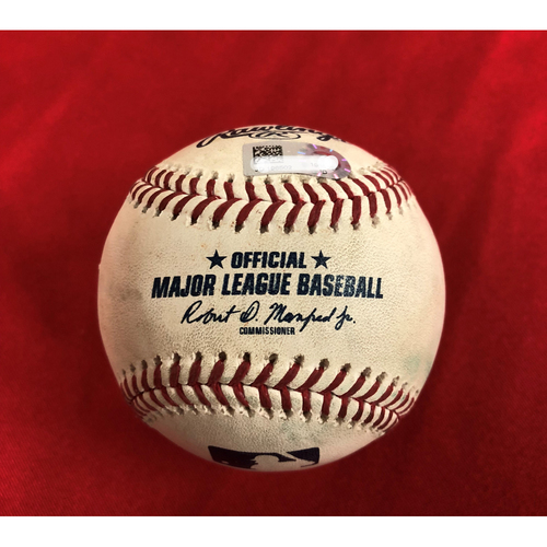 Photo of Game-Used Baseball - Trea Turner RBI Ground Out, Juan Soto RBI Double - 7/5/18