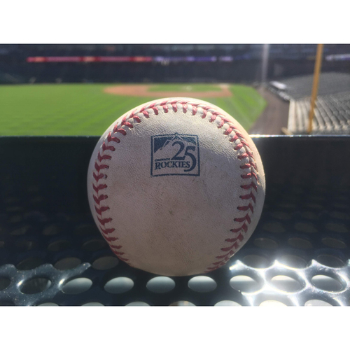 Photo of Colorado Rockies Game-Used Baseball - Robles Lines Out toArenado, Turner Lines Out to Story, Harper Single to Dahl - September 28, 2018