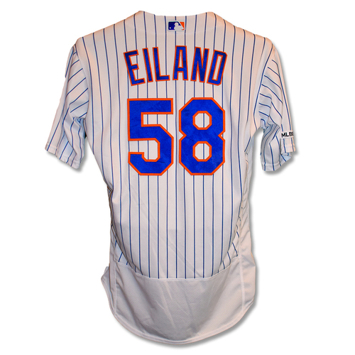 Photo of Dave Eiland #58 - Team Issued White Pinstripe Jersey - 2019 Season