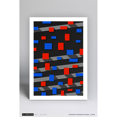 Photo of Shea Stadium - Minimalist Ballpark Art Print by S. Preston  - New York Mets