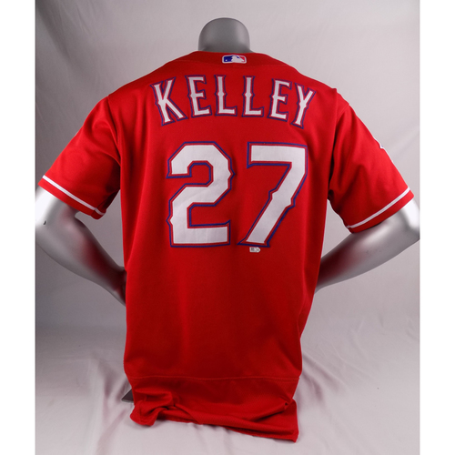 Photo of Final Season Game-Used Red Jersey - Shawn Kelley - 3/30/19